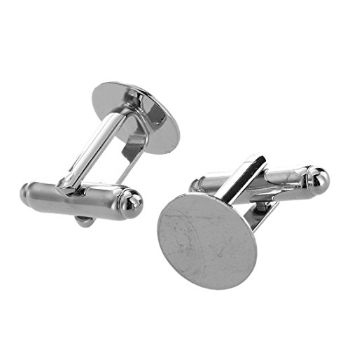 SODIAL(R) 10 Mens Cufflinks Cuff Link Backs Blanks Findings 13mm HOT by SODIAL(R) (Image #2)
