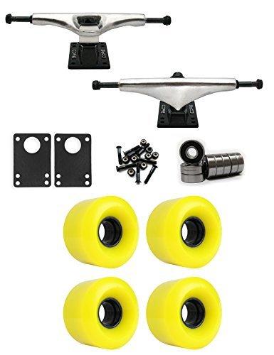 コア6.0 Longboard Trucksホイールパッケージ60 mm x 41 mm 83 a 012 Cイエロー [並行輸入品]   B078WVHXRP