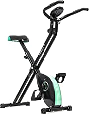 Cecotec Xbike hometrainer, inklapbaar, magnetisch met hartslaghorloge, LCD-display, variabele weerstand, pedalen met maximale grip, comfortabel zadel