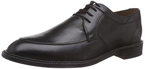 Manz Terni - Zapatos Derby Hombre Negro - Schwarz (schwarz 001)