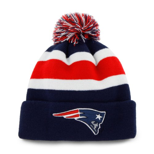 NFL New England Patriots Men's Breakaway Knit Cap, One Size, Light Navy