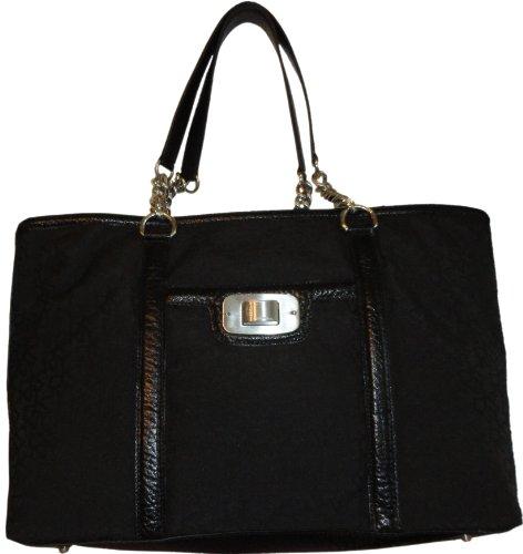 - Women's DKNY Purse Hobo Handbag Town and Country Turnlock Shopper Black/Black