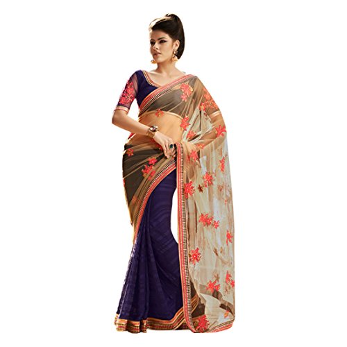 EMPORIUM EID richlook indiano donna sposa di indiano abito da jari Georgette festival Trendy matrimonio Saree 2735 ultima tradizionale etnico sari partywear ETHNIC 0aqd0