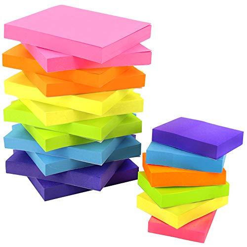 JPSOR 18 Pads Sticky Notes Set, Colorful Self-Stick Pads, 12 Pads 3