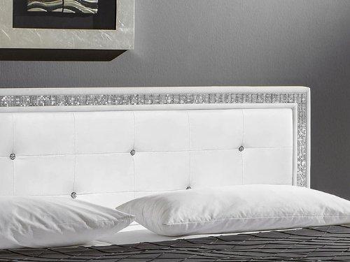 Superior Polsterbett Myles I 140x200 Weiß Textilleder Kopfteil Mit Strasssteinen Bett:  Amazon.de: Küche U0026 Haushalt Design
