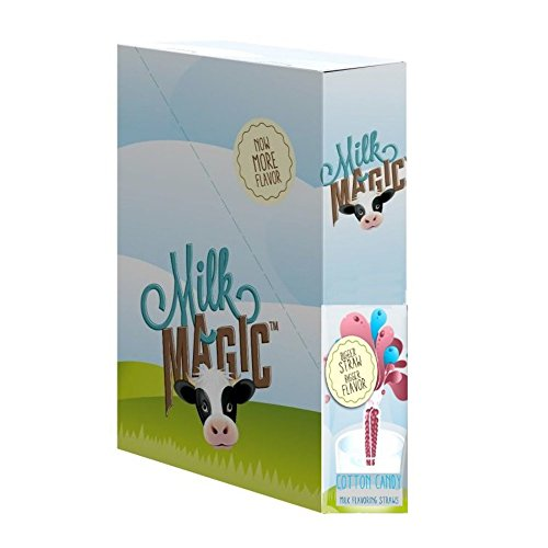 - Milk Magic Milk Flavoring Magic Straws Assorted Flavors (Cotton Candy, 56 Count)