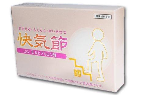 「快気節」2箱セット 「歩く立つ座る」が気になる方に 非変性Ⅱ型コラーゲンとMSM、ヒアルロン酸を配合したサプリを。 家族にも誰にも迷惑をかけたくないから、自分でシッカリ健康管理 B07899C6RC