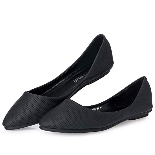 mouth pregnant shoes soft work shoes flat women comfortable FLYRCX shoes Black shallow single shoes fashion bottom Women's shoes pointed ExwCAOgq