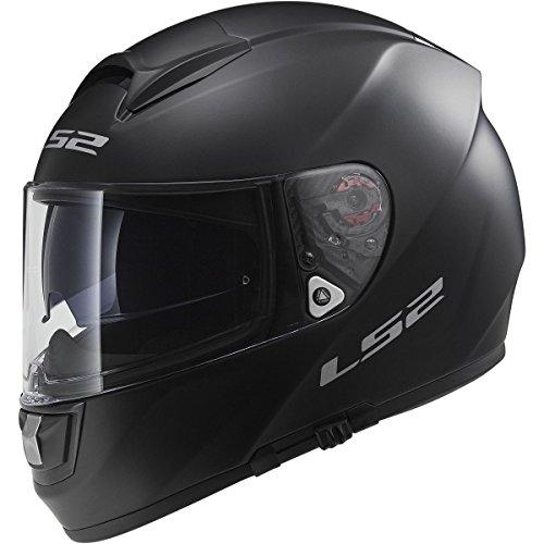 - LS2 Helmets Vector Solid Full Face Motorcycle Helmet with Sunshield (Matte Black, Small)