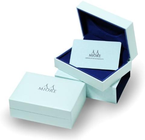 Miore Diamond Earrings, 18ct White Gold, Diamond Bands, 0.12 carat Diamond Weight, M0253W