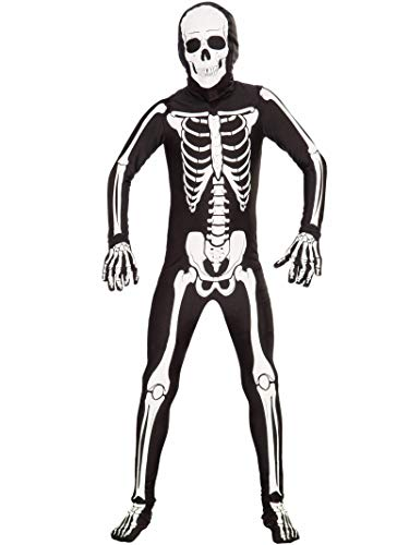 Skeleton Skin Suit (Forum Novelties I'm Invisible Costume Stretch Body Suit, Skeleton, Child)