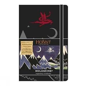 "Moleskine - Cuaderno, tamaño L a Rayas ""Hobbit"""