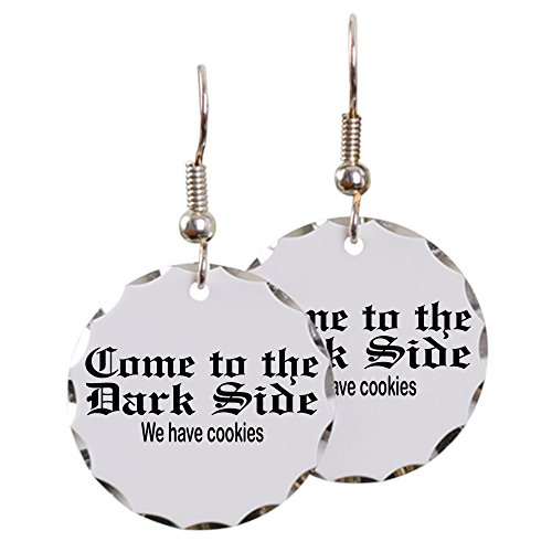 Earring Circle Charm Come to the Dark Side We Have Cookies