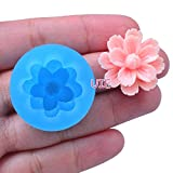 042LBH Flower Cluster Cameo Silicone Push Mold - Miniature Food, Sweets, Jewelry, Charms (Clay Fimo Resin Gum Paste Fondant)