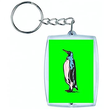 Druckerlebnis24 Llavero pingüino pie Pingüinos frío en ...