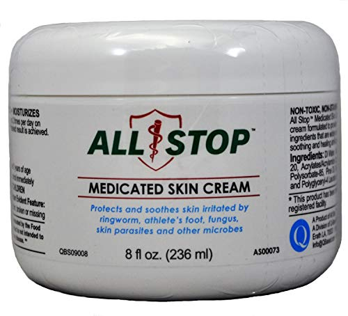 (Medicated Skin Cream [8 oz] Antifungal Healing Cream for Jock Itch, Ringworm, Athlete's Foot, Wounds, Skin)