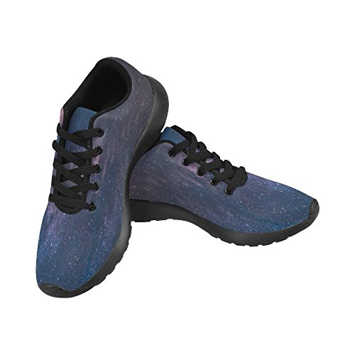 InterestPrint Panorama View of Milky Way Printing,Lightweight Breathable Shock Proof Lace up Casual Comfort Sports Shoes, Running Walking Athletic Sneakers for - Way Milky Panorama