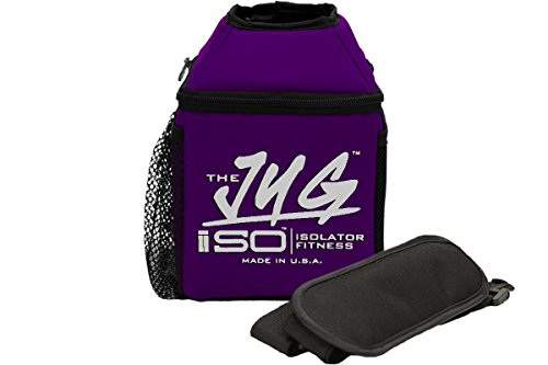 Insulated Holder (Isolator Fitness ISOJUG Insulated One Gallon Water Jug Holder with ISOBRICK and Shoulder Strap -MADE IN USA (Purple))