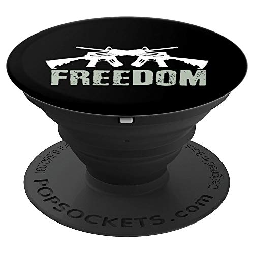 M4a1 Machine - Freedom Crossed M4A1 Machine Guns for Veterans - PopSockets Grip and Stand for Phones and Tablets