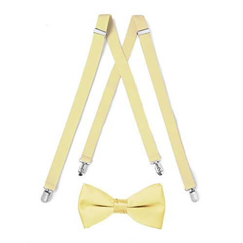 Suspender & Bow Tie Set (Adult, Yellow) -
