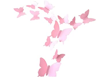 Demarkt 3D Schmetterling Wand Aufkleber Wanddeko Wandstickers ...