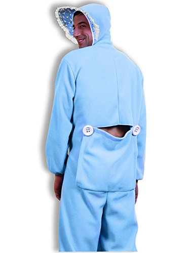 Men's Blue Jammies Costume, Blue/White, One Size (Costumes Halloween Adult /care Bear)