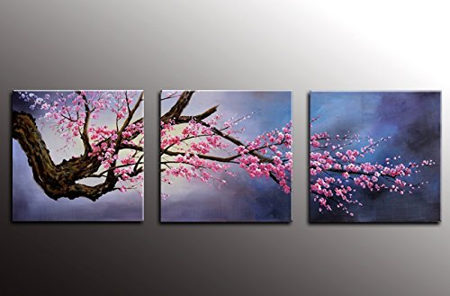 canvas wall art Plum Tree Blossom Flower Canvas Print for Paintings Artwork Modern Canvas Art for Wall and Home Décor (Blossom Canvas Art)