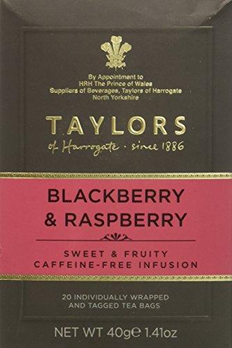 Taylors of Harrogate Blackberry & Raspberry Herbal Tea, 20 (Infusion Raspberry)