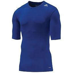 Adidas Mens Techfit Base Compression Short Sleeve Under Shirt Large...