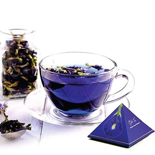 Blue Tea Indian Chai Masala   Caffeine Free Herbal Tea for Detox   Butterfly Pea Flower, Cinnamon, Cardamom, Clove…