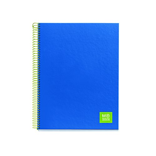 Miquelrius Spiral Notebook, 5 Subject, Graph Pages, 125 Sheets/250 Pages, A4 8.25