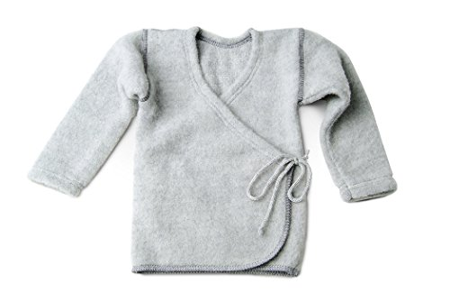 LANACARE Organic Wool Baby Sweater, Soft Grey, size 74 (6-9 mo) by LANACare
