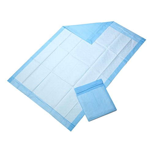 Medline Disposable light absorbancy blue underpad chux, 23x36 inch size, 150/case, for use with incontinence, bedwetting, puppy training pads, or furniture protection