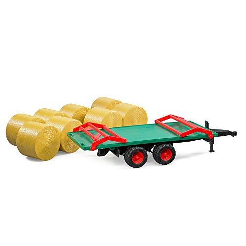 Spielzeugautos & Zubehör BRUDER 02220 Ballentransportanhänger mit 8 Rundballen günstig kaufen