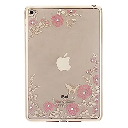 08903311d2d3c iPad Mini 4 Case, Valenth Victoria Secret Rhinestones Plating Bumper ...