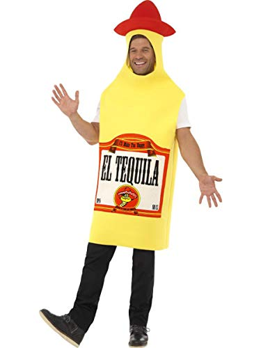 1 PC Unisex Tequila Liquor Bottle Cinco de Mayo Party Costume Yellow
