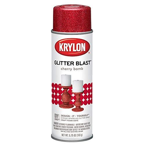 Krylon K03806A00 Glitter Blast, Cherry Bomb, 5.75 Ounce (Glasses Glitter Red)