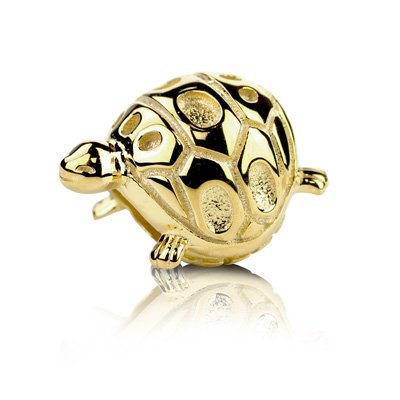 Yellow Gold Vermeil Sterling Silver Lucky Turtle Bead - Turtles Vermeil
