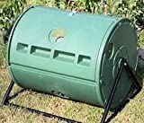 Patio-Back Yard Barrel Tumbler Dual Composter for Home Gardening Composting