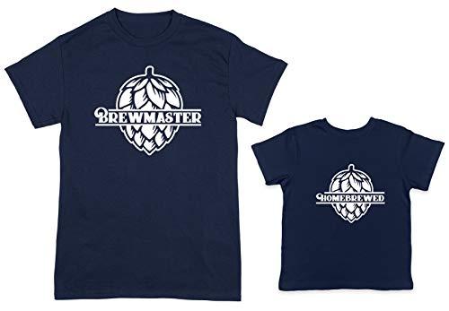 Lager Pilsner (HAASE UNLIMITED Brewmaster/Homebrewed 2-Pack Toddler & Men's T-Shirt (Navy/Navy, X-Large/12 Months))