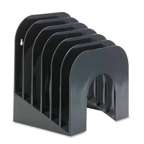 Rubbermaid : Six-Tier Jumbo Incline Sorter, Plastic, 9 3/8w x 10 1/2d x 7 3/8h, Black -:- Sold as 2 Packs of - 1 - / - Total of 2 Each Plastic Incline Sorter