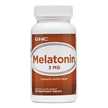 GNC Melatonin 3mg, 120 Tablets, Supports Restful Sleep