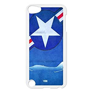 J-LV-F Customized Print Captain America Pattern Hard Case for iPod Touch 5