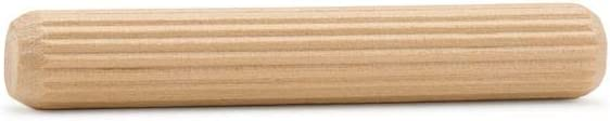 Wood Dowel Pins 3 inch x 1/2 inch, Pack of 50 Fluted Dowel Pins for Furniture and Wood Crafts by Woodpeckers