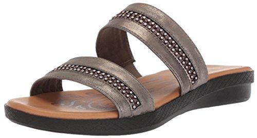 Lätt Gata Kvinna Dionne Platt Sandal Tenn Metall