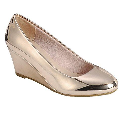 Forever Doris-22 Wedges Pumps-Shoes (10 B(M) US, Rose Gold)