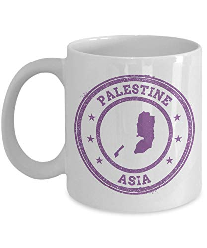 Palestine travel stamp passport Asia novelty gift idea holiday for women men wife husband coworker friend birthday coffee mug 11 oz