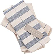 MEEMA Dish Towels Cotton Kitchen Towels | Super Absorbent Weave | Made with Upcycled Denim and Cotton | Set of