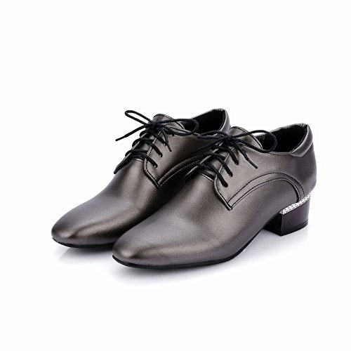 Show Shine Womens Casual Lace Up Mid Heel Oxfords Shoes Tan T19aKey8O