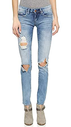 Blank Denim Women's Distressed Skinny Jeans, Good Vibes, 24
